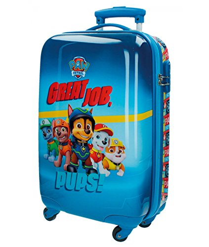Disney Genuine Ride-on Childrens ABS Hard Shell Suitcase Cabin Case Roller (01 Paw Patrol)