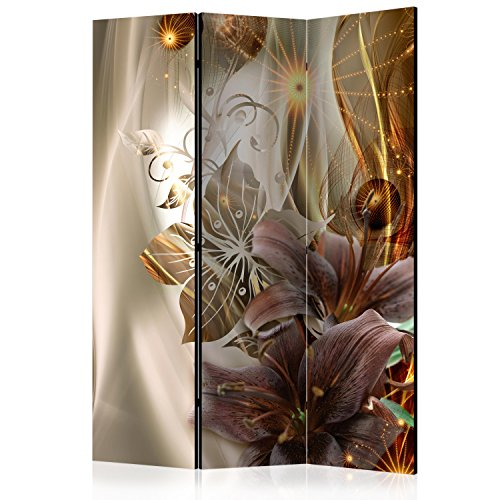 murando Paravent 135x172 cm Réversible Deux Côtés Impression sur Toile intissée 100% Opaque Foto Paravent décoratif en Bois avec Interieur Impression a-C-0054-z-b