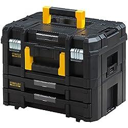 Stanley FatMax Werkzeugkoffer (21,5L Fassungsvermögen, mit 2 Schubladen und Organizern für Kleinteile, mit Metallschließen, mit herausnehmbaren Innenteilern) FMST1-71981