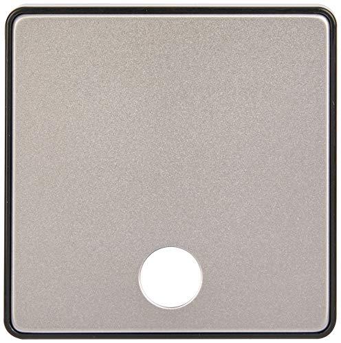 MK Dimensions 1 Gang 25 A Verbindungseinheit Flex Outlet Satin Steel Finish Frontplatte mit schwarzem Rand -