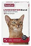 SPARPAKET: 5 x Beaphar Ungezieferhalsband / Flohband für Katzen L 35cm