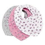 Pippi Baby Halstuch Dreieckstuch Spucktuch Lätzchen (rosa-Motive)