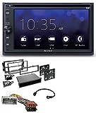 caraudio24 Sony XAV-AX205DB MP3 DAB USB 2DIN DVD Bluetooth Autoradio für Chrysler PT Cruiser 300C Dodge Jeep Commander