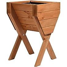 dobar Dekoratives Bancal de madera (Pino): Mesa Bancal montar para verduras, hierbas, flores, flexible platzierbar, marrón, 39x 40x 61cm, 58100FSC