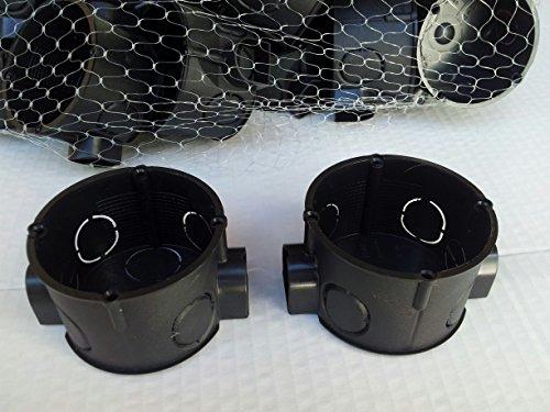 50 Stück Unterputz Schalter Abzweigdose Ø 60 mm,41 mm flach mit Tunnelstutzen 4-Dome,VDE Profiqualität MADE IN GERMANY von MD