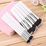 10 Pcs Professional Makeup Cosmetic Blush Eyebrow Powder Brushes Set