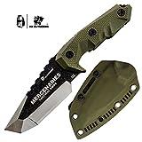 HX OUTDOORS Premium Qualität Überlebensmesser,Companion Messer, Outdoor Survival Messer, Jagdmesser, Stahl D2,Rutschfester G10 Griff (D-170)