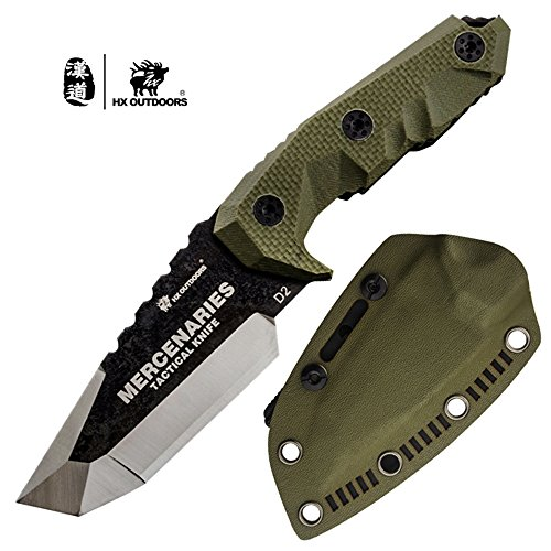 HX OUTDOORS Premium Qualität Überlebensmesser,Companion Messer, Outdoor Survival Messer,...