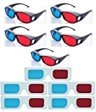 #8: Hrinkar original New Model Anaglyph 3D Glasses Red and Cyan 5 Plastic + 5 Paper offer - 3d Glass For Mobile Phone, Computer, Laptop, TV, Projector and Magazines