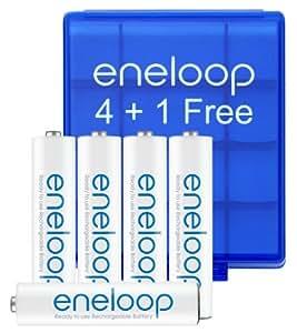"""Eneloop AAA 4 Pack Batteries - delivered in """"eneloop"""" Safe-Box"""