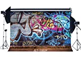 Sunny Star 7X5FT/210X150cm Thin Vinyl Photography Backdrops Graffiti Style Vibrant Artistic Brick Wall Backdrop Seamless Newborn Baby Toddlers Lover Portraits Background Photo Studio Props 10029