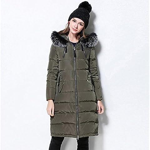 XYXY Para mujer con capucha abajo abrigos globo caliente ocio de invierno . army green . xl