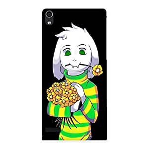 NEO WORLD Funny Flower Back Case Cover for Ascend P6