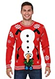Snowman Balls Christmas Sweater Large