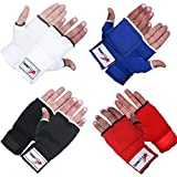 TurnerMAX Elasticated Poly Cotton Training Inner Gloves Boxing MMA Gym Fight Gel