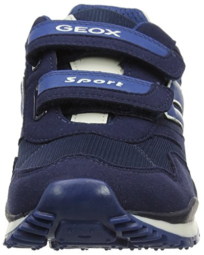 Geox J Pavel A, Baskets mode garçon Bleu (Navyc4002)