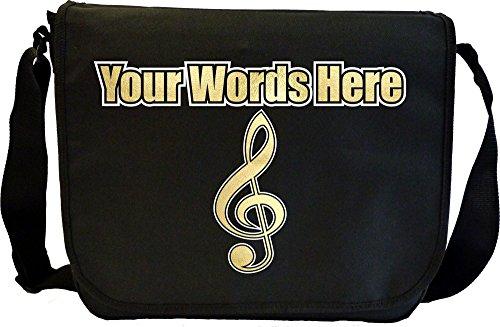 Music Notation Treble Clef - Angefertigt Personalisiertes Sheet Music Document Bag Musik Noten Tasche MusicaliTee