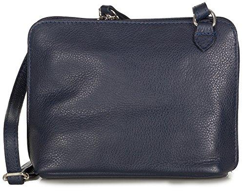 97e996ff28bba Taschenloft kleine Umhängetasche Schultertasche Crossbody Bag Nappa Leder  Damen (20x16x7 cm) Dunkelblau