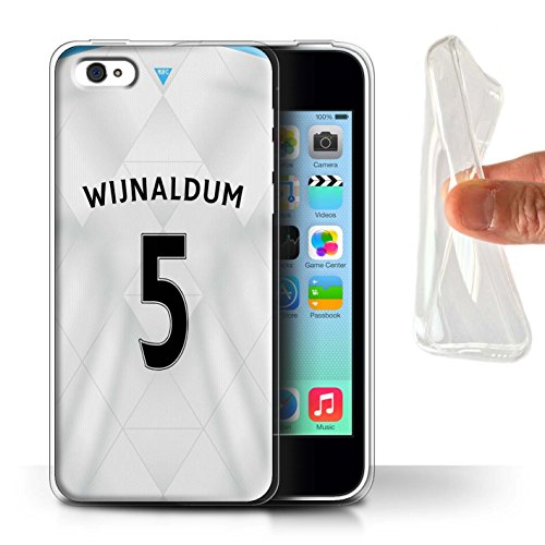 Offiziell Newcastle United FC Hülle / Gel TPU Case für Apple iPhone 5C / Pack 29pcs Muster / NUFC Trikot Away 15/16 Kollektion Wijnaldum
