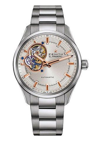 Zenith EL PRIMERO Übersicht Silber Zifferblatt Edelstahl Herren Armbanduhr 032170461301M2170