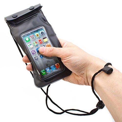 Wasserfeste Handy Schutzhülle Tasche für Smartphone Digitalkamera (wasserdicht bis 3m; Staub- & Sandschutz). Inklusive wasserdichter Kopfhörer!
