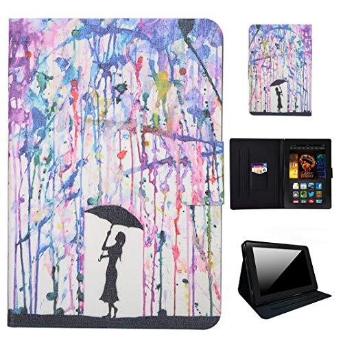GSWAY Schutzhülle für Amazon Fire HDX 17,8 cm (7 Zoll) Tablet, dünn und leichteste, Faltbare Standfunktion, PU-Leder TPU Innenhülle für Amazon Kindle Fire HDX (3. Generation, 2013)