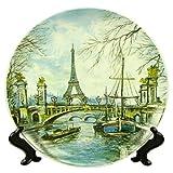 Souvenirs de France - Grande Assiette Paris 'Tour Eiffel'