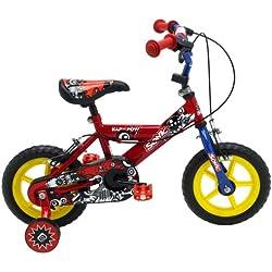 Sonic Kap Pow - Bicicleta para niño, tamaño 12, color rojo / azul
