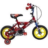 "Sonic Kap-Pow Boys' Kids Bike Red/Blue, 8"" inch steel frame, 1 speed adjustable easy-reach levers padded comfort saddle"