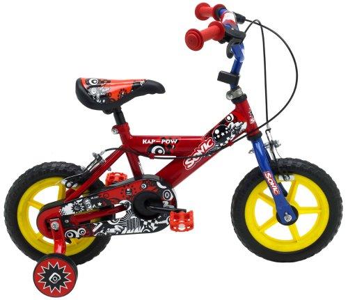 Sonic Kap Pow - Bicicleta para niño, tamaño 12, Color Rojo/Azul