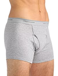 Fruit of the Loom - Boxer - Homme gris Assorted Stripe/Solid Medium