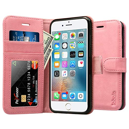 5d3ffe9b58e Labato Wallet iPhone 6 6S Leather Case with Stand and Magnets Quality  Magnetic Flip Wallet Cover