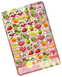 Party Stuff Fruits Vegetables Theme Paper Games - Match Count Fruits - Match Count (12 Cards) | Kitty Games