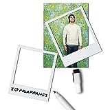 6 x Magnetrahmen / Magnetische Bilderrahmen Fotorahmen weiß - 6er-Set / Pack magnetische Rahmen in Polaroid-Form mit wegwischbarem Filzstift