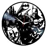 Queen Clocks Horloge de Joker Batman - Décoration Murale en Vinyle - DC Comics - Cadeaux d'anniversaire pour Homme