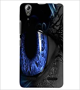 PrintDhaba Blue Eyes D-3332 Back Case Cover for LENOVO A6000 (Multi-Coloured)