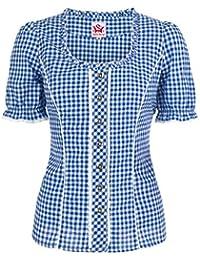 Spieth & Wensky - Karierte Damen Trachten Bluse in verschiedenen Farben, Petra (009791-0115)