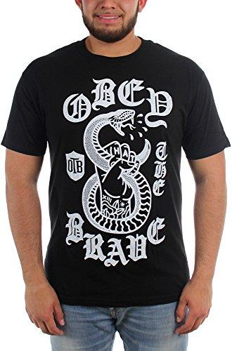 Obey The Brave-Spitting Venom-Maglietta da uomo nero Large