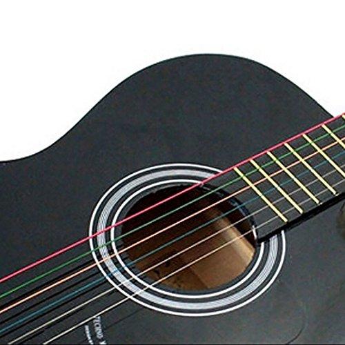 Collectsound Gitarrensaiten für Akustikgitarre, 6 Stück, Regenbogenfarben multi
