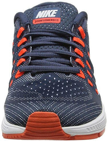 Nike Air Zoom Vomero 11, Chaussures de Running Compétition Homme Noir (Squadron Blue/White/Blue Grey/Total Crimson)