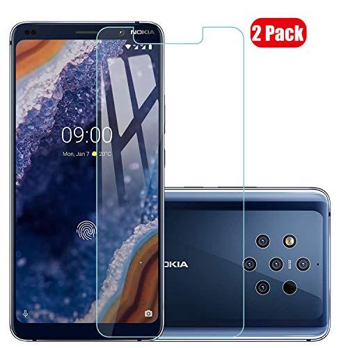 Voviqi Nokia 9 PureView Panzerglas, 9H verbesserte gehärtetes Glas Folie [Blasenfrei] [Anti-Fingerabdruck] Displayschutzfolie für Nokia 9 PureView, 2 Stück