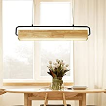 Perfekt EYLM LED Pendelleuchte Holz Hängeleuchten Kronleuchter Einfacher Moderner  Leuchten,Büro Esszimmer Arbeitszimmer Geschäfte,90