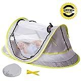 AKUKA Baby Strand Zelt–Kleinkinder-Reisebett tragbar UPF 50+ Sonnenschutz für Infant, Pop Up Moskitonetz mit 2Knöpfen Indoor Outdoor