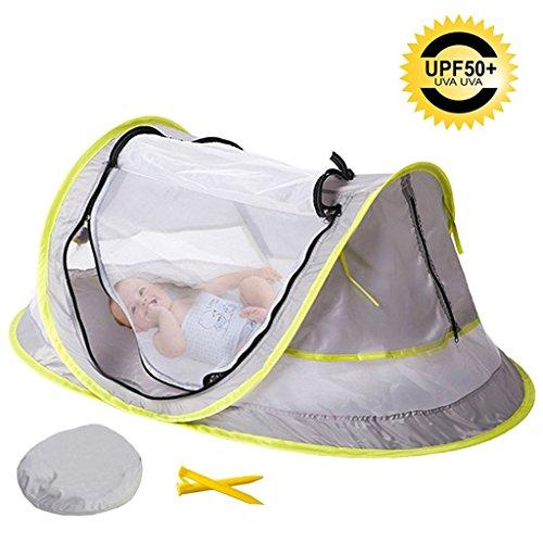 AKUKA Baby Strand Zelt-Kleinkinder-Reisebett tragbar UPF 50+ Sonnenschutz für Infant, Pop Up Moskitonetz mit 2Knöpfen Indoor Outdoor