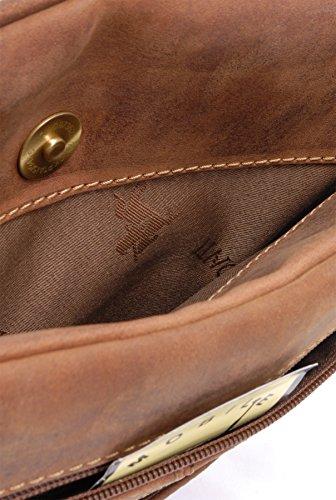 Visconti - Mittelgroße Umhängetasche - A5 - 18512 - GRÖßE: B: 24 H: 28 T: 2 cm Öl Hellbraun
