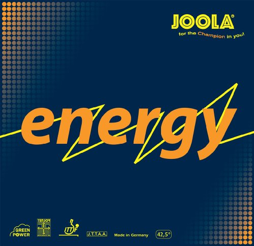 JOOLA Energy Green Power Tischtennis Gummi, 70081, rot, 2-mm