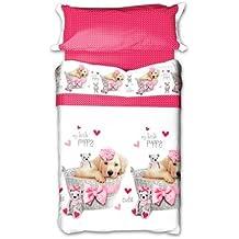 Juego de sábanas 155 Rosa (cama 90 x 190/200)