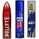 LAYERR SHOT PASSION FRAGRANT BODY SPRAY + LAYERR SHOT ABSOLUTE SERIES POWER FRAGRANT BODY SPRAY + LAYERR SHOT...