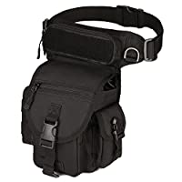TentHome Tactical Waist Bag Leg Outdoor Drop Leg Bag Waterproof Belt Bag Side Bag, Black