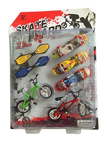 RemeeHi Party Favors Educational Finger Toy Mini Finger Sports Skateboards/Bikes/Swing Board with Endoluminal Metallic Stents Pattern A